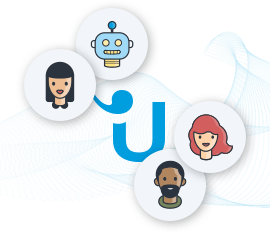 Live chat software userlike logo with different visitors