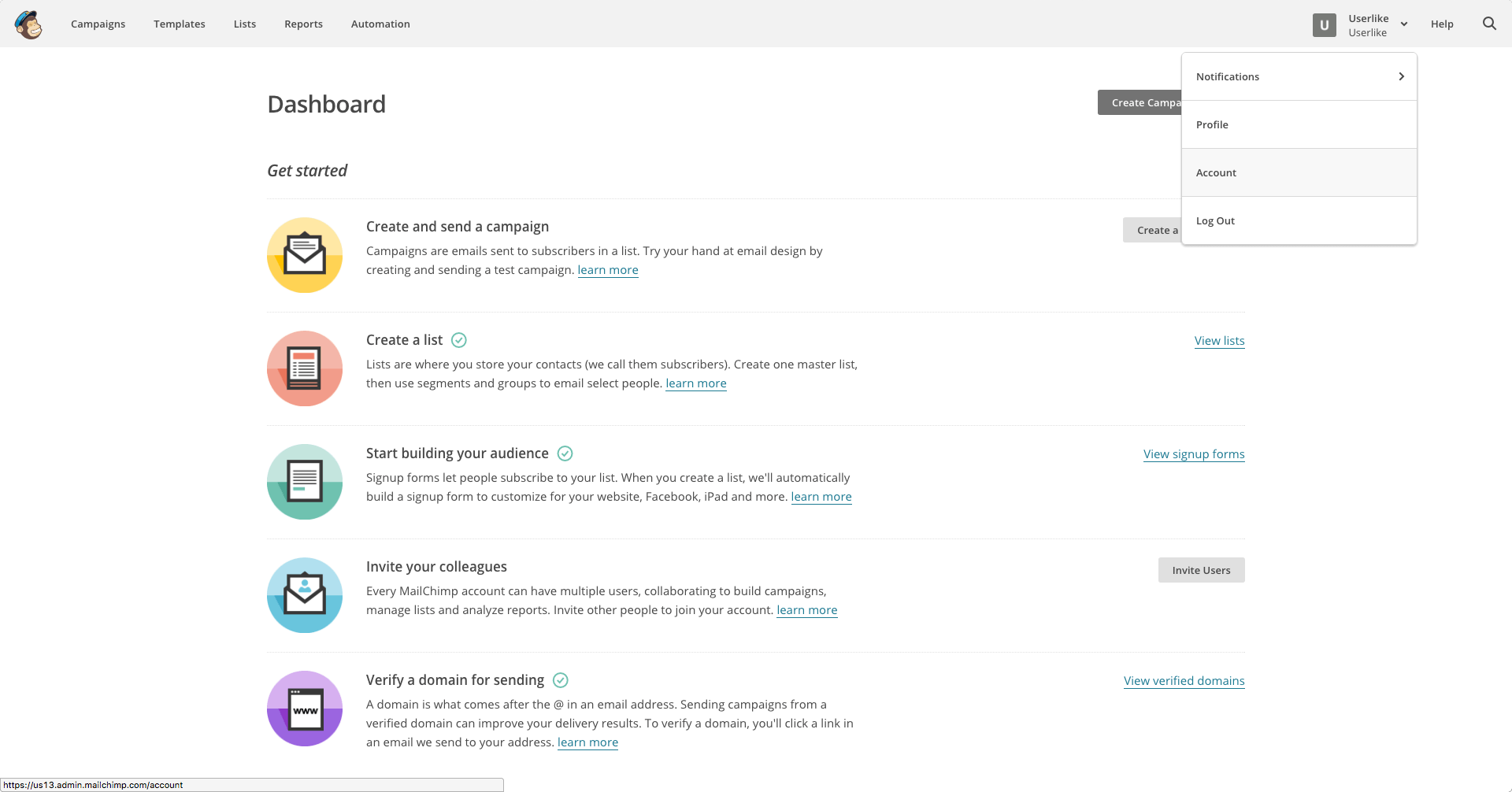 MailChimp incontri